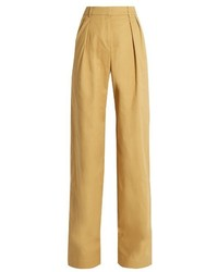 Palmerharding high rise wide leg stretch cotton twill trousers medium 833192