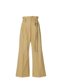 Ujoh Paper Bag Waist Wide Leg Trousers