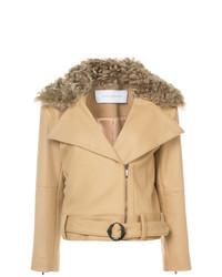 Kimora Lee Simmons Removable Shearling Collar Bomber Jacket