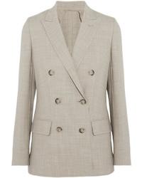 Galea double breasted stretch wool blazer beige medium 696467