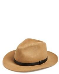 Messer wool fedora brown medium 356002