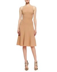 Tan Wool Sheath Dress