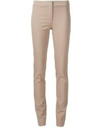 Tan Wool Skinny Pants