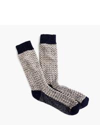 Donegal wool herringbone socks medium 956779
