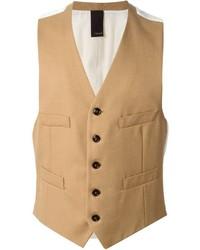 Tan Wool Waistcoat