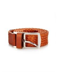 De la vie marco polo woven leather belt medium 234589