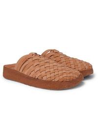 Malibu Colony Woven Faux Leather Sandals