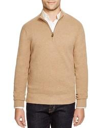 Tan Zip Neck Sweater