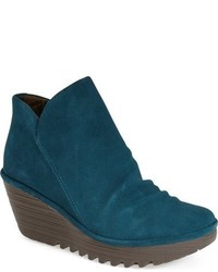 Teal Ankle Boots