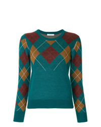 GUILD PRIME Argyle Knit Sweater