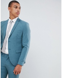 Selected Homme Skinny Suit Jacket In Green With Stretch