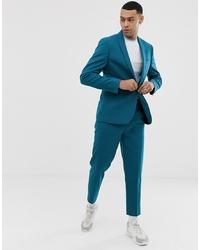 ASOS DESIGN Skinny Suit Jacket In Teal