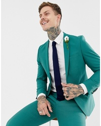 Twisted Tailor Super Skinny Suit Jacket In Green
