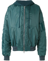 Teal Bomber Jacket