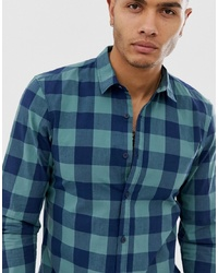 Pull&Bear Check Shirt In Green