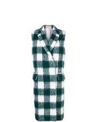 Calvin Klein 205W39nyc Checked Midi Vest Coat