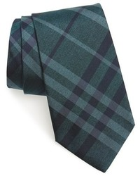 Teal Check Tie