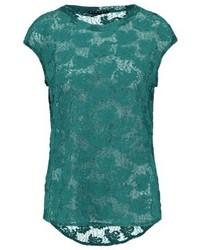 Sisley Print T Shirt Green