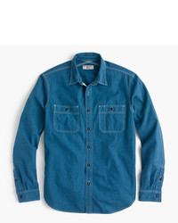 Teal Denim Shirt