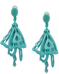 Oscar de la Renta Lace Impatiens Earrings