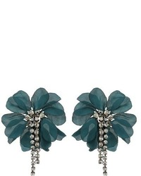 Lanvin Floral Embellished Earrings