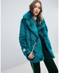 Teal Fur Coat