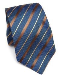 Teal Horizontal Striped Tie