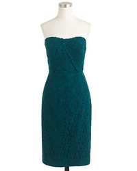 J.Crew Petite Kelsey Strapless Dress In Leavers Lace