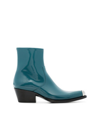Calvin Klein 205W39nyc Blue Tex Chiara 40 Leather Boots