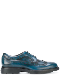 Teal Leather Brogues