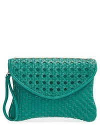 Sole Society Averie Woven Faux Leather Clutch