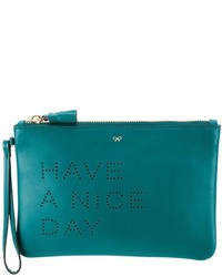 Anya Hindmarch Have A Nice Day Clutch