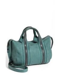 Teal Leather Satchel Bag