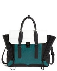 Pashli colorblock leather crossbody satchel medium 88394