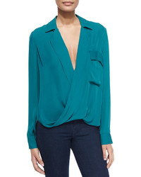 Teal Long Sleeve Blouse