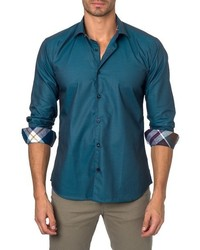 Jared Lang Trim Fit Solid Sport Shirt