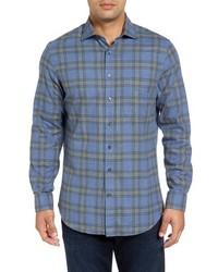 Regular fit tartan plaid sport shirt medium 834118