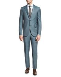 Teal Plaid Suit