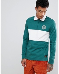 LEVIS SKATEBOARDING Long Sleeve Rugby Polo With Panel In Green