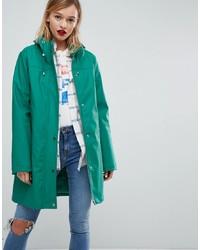 ASOS DESIGN Borg Lined Raincoat