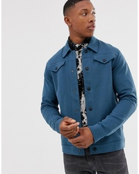 Jack & Jones Premium Overshirt In Teal With Chest Pockets