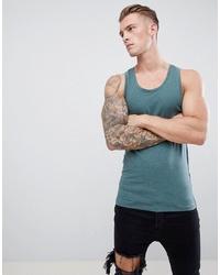 ASOS DESIGN Muscle Fit Vest In Green