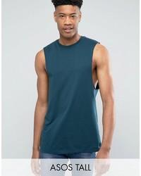 Asos Tall Longline Sleeveless T Shirt With Dropped Armhole