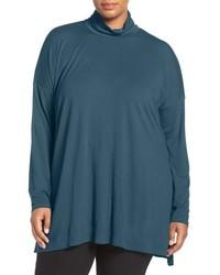 Eileen Fisher Plus Size Lightweight Jersey Turtleneck