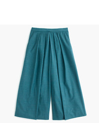 J.Crew Drapey Culotte In Wool Flannel