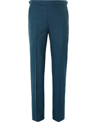 Petrol wool suit trousers medium 594339