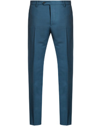 Slim leg mohair and wool blend trousers medium 1148590