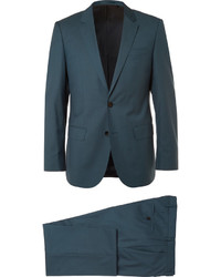 Teal Wool Suit