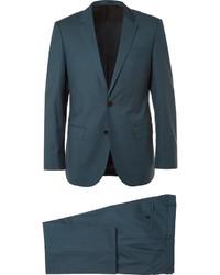 Hugo Boss Blue Slim Fit Super 130s Virgin Wool Suit