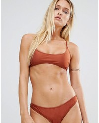 Missguided Mix Match Cross Back Bikini Top